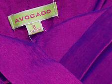 AVOCADO PurpleStretchCrepeDeChineStraplessMiniParty Size8