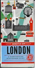 City Scratch-Off Map: London: A Sightseeing Scavenger Hunt: 30 landmarks (2015)