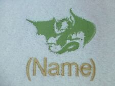 DRAGON design Embroidered onto Cotton Towels, Bath Robes with Personalised name