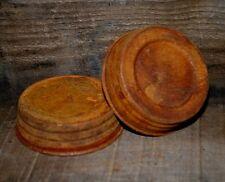 "6 Primitive Rusty Tin Jar LIDS - Plain - 3"" Standard Mouth  - Mason Jars"