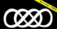 DOUBLE INFINITY Vinyl Decal Sticker Car Window Wall Bumper Forever Love Symbol