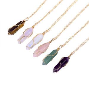 7 Chakra Pendant Necklace Gemstone Natural Stone Crystal Quartz Healing Point