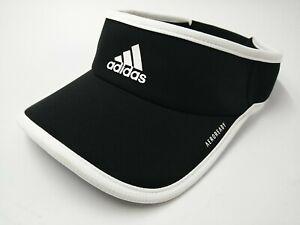 Adidas Aeroready Visor Hat Sun Cap Black Jogging Running Outdoor Golf