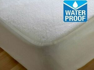 Terry Towel Waterproof Mattress Protector Sizes Single, Double King, Super king