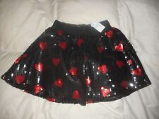 Girls Justice Sequins Hearts Skirt  Size 10 NWT