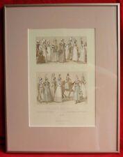 Gravure encadrée France XIXème siécle, costumes traditionnels