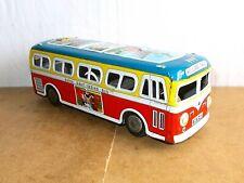 RARE vintage tin toy - DAIYA japan - bus coach HOLLAND TRIPS dutch tour - 60s