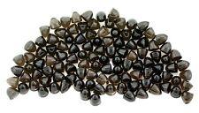 SIX 4mm Bullet Shape Natural Smoky Quartz Cab Cabochon Gemstone Gem Stone