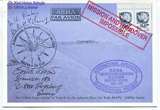 1985 URSS CCCP Glaciological Project Grenoble Vostok Antarctic Card MULTI SIGNED