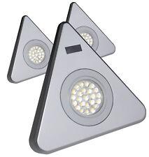 Rolux LED Dreiecksleuchten 3er Set IR Sensor-Zentralschalter Unterbauleuchte