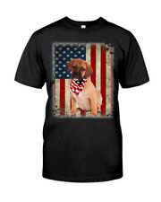 American Puggle Dog American Flag Gift Ideas Dog Lover T-Shirt