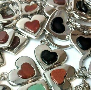20 pcs Gemstone Keyrings Bagcharms Healing Reiki Assorted Crystal WHOLESALE MB02