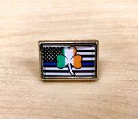 Irish Police Thin Blue Line Flag Lapel Pin Hat Pin Tie Tac