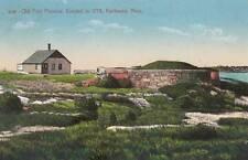 Antique POSTCARD c1916 Old Fort Phoenix FAIRHAVEN, MA MASS. 17924