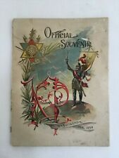 KNIGHTS OF PYTHIAS OFFICIAL SOUVENIR & PROGRAM WASHINGTON COPYRIGHT 1894