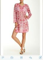 RAJ IMPORTS FLORAL FISH PATTERN, COTTON TUNIC/ COVER UP/ BLOUSE SUMMER FASHION