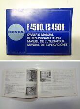 Manuale manual libretto uso manutenzione generatore generator HONDA E ES 4500