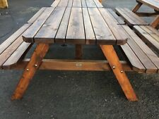4 x Wooden 4ft Tri topped  Picnic benches pubs,clubs,Strong smooth,
