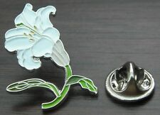 Lily Flower Lapel Hat Cap Tie Pin Badge Lilium Brooch