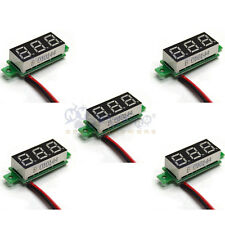 5x Mini DC 3.5-30V Green LED Panel Voltage Meter 3-Digital Display Voltmeter