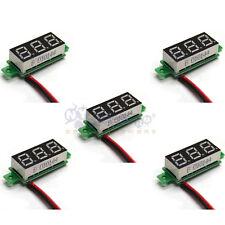 5x Mini DC 3.5-30V Green LED Panel Voltage Meter 3-Digital Display Voltmeter
