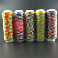 5Pcs Rainbow Sewing Thread Hand Quilting Embroidery Thread For DIY Accessories