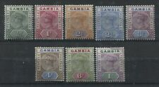 Gambia QV 1898 complete set mint o.g. hinged