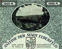 Elberfeld historische Anleihe 1922 Wuppertal Kirschbaum dekor. Wupper Bond NRW