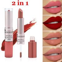 Teayason velvet Matte lip gloss with lipstick cream 2in1 multifunction makeup x