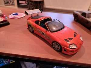 """1:18 ERTL Fast And Furious Toyota Supra 1995 """"barnfind """" condition"""