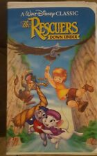 Lot of 2 The Rescuers & Down Under Disney Rare Black Diamond VHS Collectable