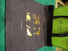 Nuovo di Zecca Ted Baker MARRONE CIOCCOLATO CON STAGNOLA di rame design cotton TOTE BAG