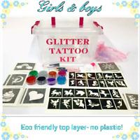 GLITTER TATTOO KIT BOY GIRL or Christmas  temporary  tattoos OR REFILL ITEMS