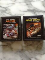 Indy 500 And Street Racer Atari Games 2600 (2) Games
