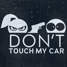 Don't Touch My Car Funny Lady With Gun Decal Vinyl Sticker For Window Or Bumper