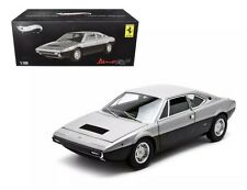 1973 FERRARI DINO 308 GT4 ELITE EDITION SILVER/BLACK 1/18 BY HOTWHEELS X5483