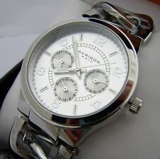 Akribos XXIV Womens AK531 Silver Quartz Multifunction Wristwatch Watch