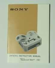 Sony Tapecorder 101 Instruction Manual Reel to Reel with Schematic Diagram