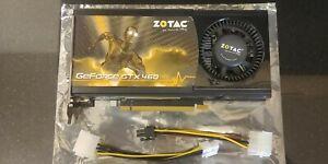 ZOTAC GeForce GTX 460 1 GB 256 bit gddr5 graphics card. dvi, display port, hdmi
