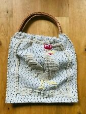 Knitted Portugal bag with woven hold handles VINTAGE