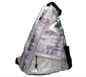 "Ladies Printed Pickleball Sling Bag - ""Urban Ink"" - Designed For Pickleball"
