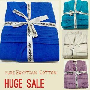 Mens &Ladies 100% EGYPTIAN COTTON LUXURY TERRY TOWELLING SHAWL BATHROBE GOWN