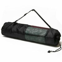 Yoga Mat Carrier Bag Mesh Nylon Adjustable Strap Exercise Fitness Physio Gym