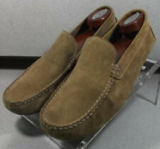 5911290 LIGHT BROWN DS38 Mens Shoes Size 9 M Suede Driving Shoes Johnston Murphy