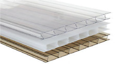 Discounted Polycarbonate Sheets - 35mm Twinwall - Clear -Width 900- Length-1750