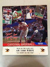 1991 St. Louis Cardinals Baseball Yearly Calendar