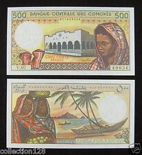 Comoros Paper Money 500 FRANCS 1986 UNC