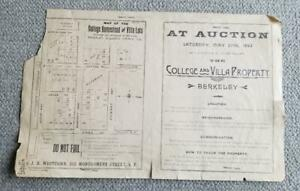 1893. Map... College Homestead and Villa Lots Adjoining the University Berkeley