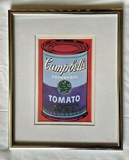 """Andy Warhol """"Campbell's Soup Can"""" (blue / purple) Framed Pop Art Iconic Print"""