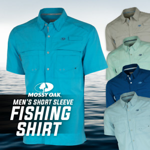 Mossy Oak Men's Short Sleeve Button Up Fishing Shirt